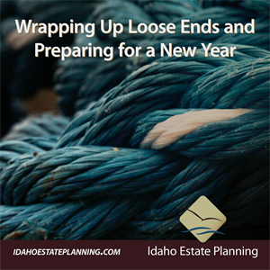 Wrapping Up Loose Ends and Preparing for a New Year